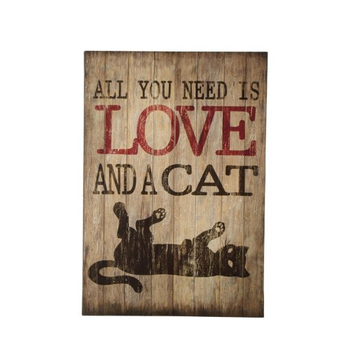 All You Need is Love and a Cat.Wall Art