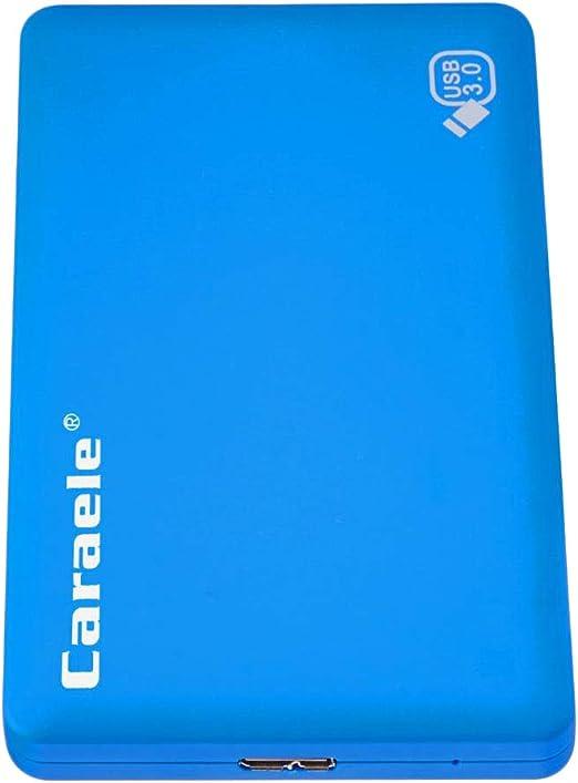 B Baosity 外付けHDD ポータブル ハードディスク 1TB 高速 2.5インチ SATA USB 3.0 モバイルディスクドライブ 青色 - ブルー