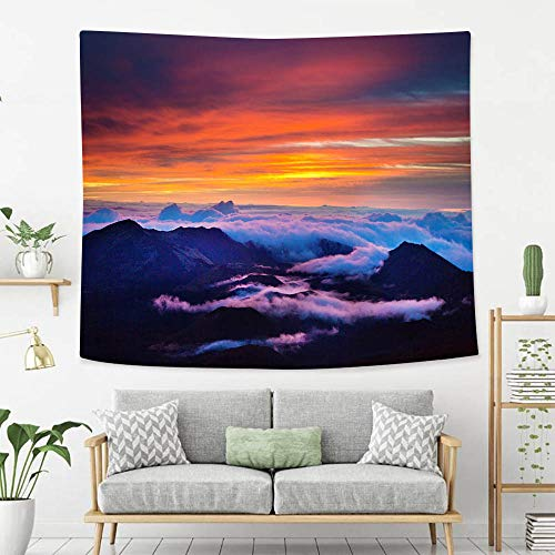 BEIVIVI Wall Tapestry Wall Hanging Haleakala National Park Crater Sunrise in Maui Hawaii Tapestry, Living Room Bedroom Decoration Tapestry, Mattress, Tablecloth