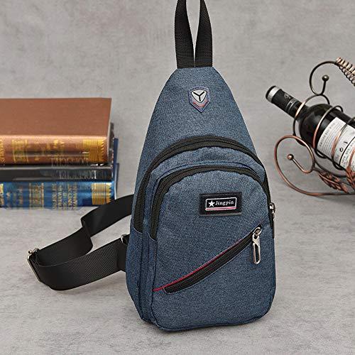 Chest Multifunctional Handbag Bag Canvas WILLTOO Travel Blue Fashion School Anti Theft Bags Bag Men z84q5F