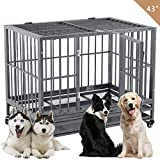 "Best Heavy Duty Dog Crates - SUNCOO 43"" Heavy Duty Dog Crate Pet Kennel Review"