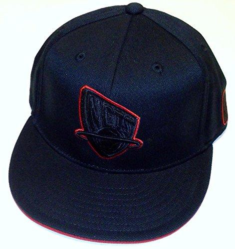 New Jersey Nets Acrylic (adidas NBA New Jersey Nets Flat Bill Flex Hat - S/M - TU50Z)