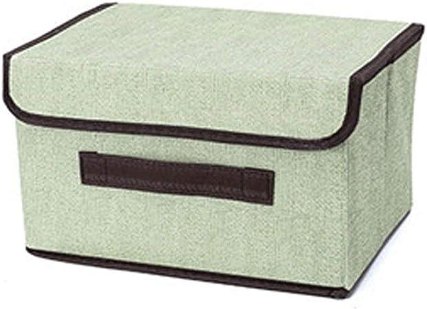 HW Caja de Almacenamiento Caja Grande Ropa de Almacenamiento Tela Cubierta Plegado Armario Acabado (Color : Green, Size : Big): Amazon.es: Hogar