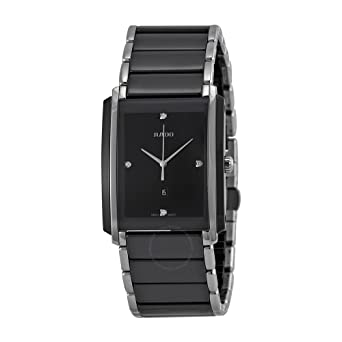 892ef3a9d Image Unavailable. Image not available for. Color: Rado Integral Jubile  Two-tone Black Ceramic and Stainless Steel Mens Watch ...
