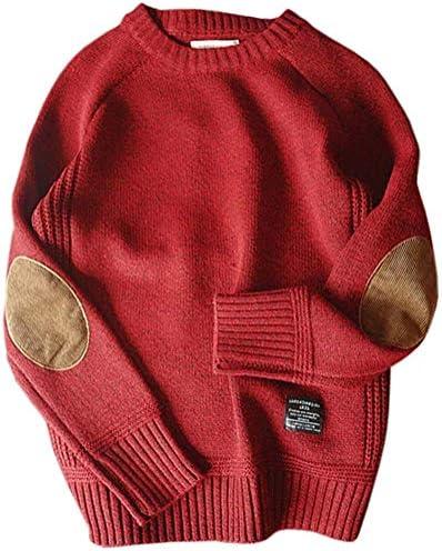[JINPIN]セーター メンズ ニット クルーネック カジュアル ストリート アメカジ ファッション 暖か ゆったり 丸首 無地 長袖 防寒 春秋冬 通勤 通学 大きいサイズ
