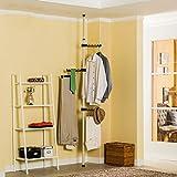 Asunflower Coat Racks Stand, 3-Tier Adjustable Clothes Drying Hanger,Free Standing Garment Hanger for Dry/Wet Laundry