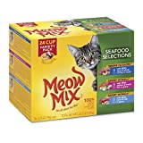 Meow Mix Seafood Selections Variety Pack Wet Cat Food, 24 Cups Larger Image