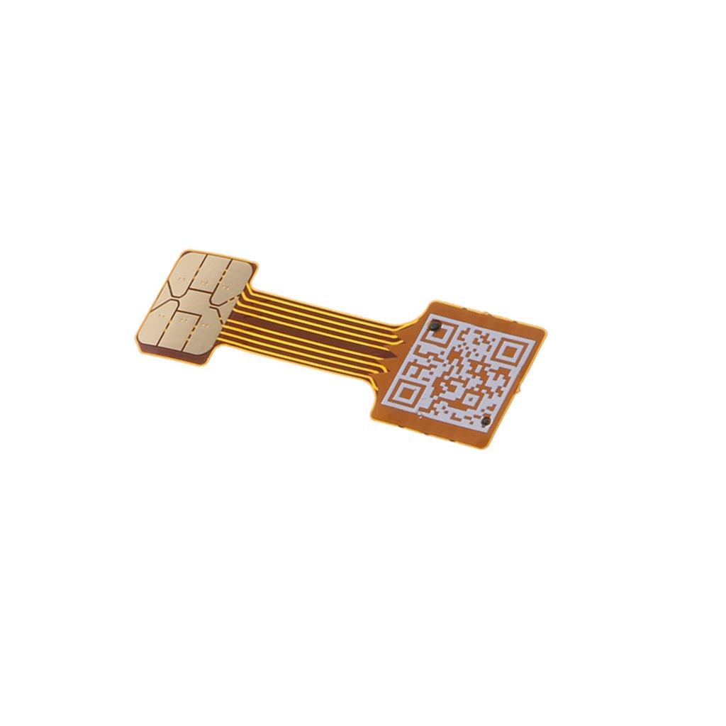 Color #1 MagiDeal Micro USB C/âble Adaptateur Extendeur Carte SIM Prolongateur pour T/él/éphone Portable