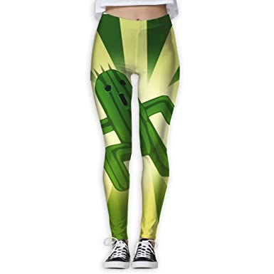 Amazon.com: homlife Yoga Leggings pantalones Cool Cactus ...