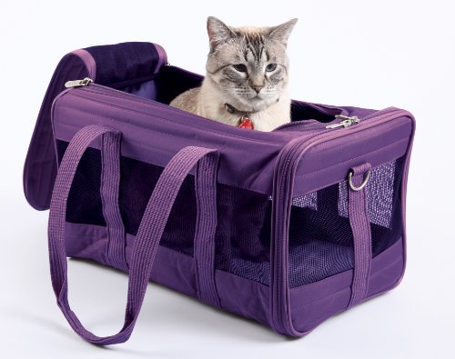 Sherpa Travel Original Deluxe Airline Approved Pet Carrier, Plum, Large (Frustration Free Packaging)