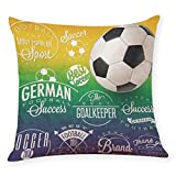 Dacawin HOT {World Cup Pillow Covers 2018}Home Decor Cushion Cover Football Soccer Throw Pillowcase (MulticolorJ, 45 45cm)