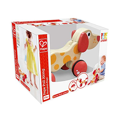 Walk-A-Long Puppy Wooden Pull Toy by Hape | Award Winning Push Pull Toy Puppy For Toddlers Can Sit, Stand and Roll…