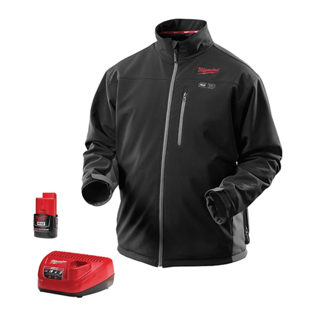 Milwaukee Tools 2395-L M12 Black MZ Heat Jacket Kit, Large