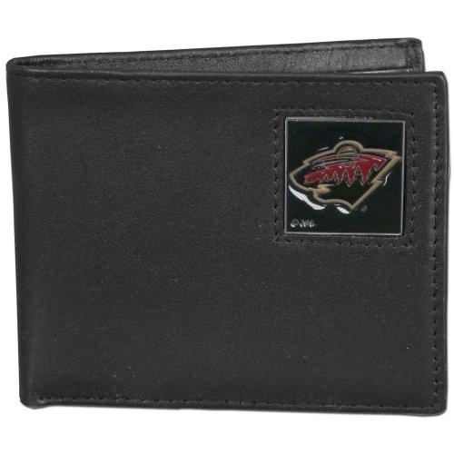 (NHL Minnesota Wild Genuine Leather Bi-fold Wallet)