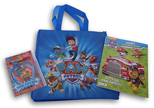 Coloring Tote Bag (Paw Patrol Gift Set - Tote Bag, Coloring Book, Stationery Set)