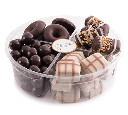 The Chocolate Bar - Premium Chocolate Gift Tray - 4 Section Holiday Gift Platter ()