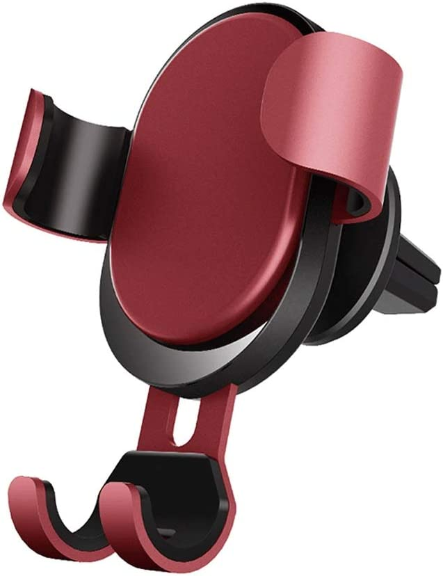 Color : Red. Air Outlet Multi-Function Bracket//Mobile Phone Clip Automatic Matching 9 to 9.5 cm Wide Mobile Phone Elastic Clip Arm Kkk ligting Gravity Induction Car Phone Holder
