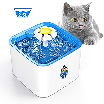 Cat Water Fountain DELOMO Pet Water Fountain, 84oz/2.5 L Automatic Electronic Pet... [tag]