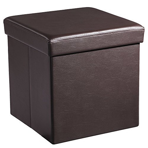 SONGMICS 15  x 15  x 15  Storage Ottoman Cube/Footrest Stool/Coffee Table/Puppy Step Holds Up to 660lbs Faux LeatherBrown ULSF10B  sc 1 st  Amazon.com & Box Seat: Amazon.com