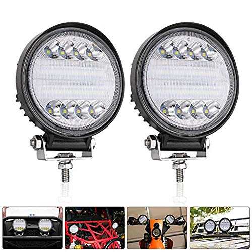 Ponis-Limos - 1x 96W 9600LM Car LED Work Light Spot/Flood Lights Waterproof Round LED Offroad Lamp Worklight for Off road Motorcycle Car Truck