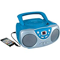 Sylvania Portable Cd Player & AM/FM Radio Mega Bass Reflex Boombox Sound System
