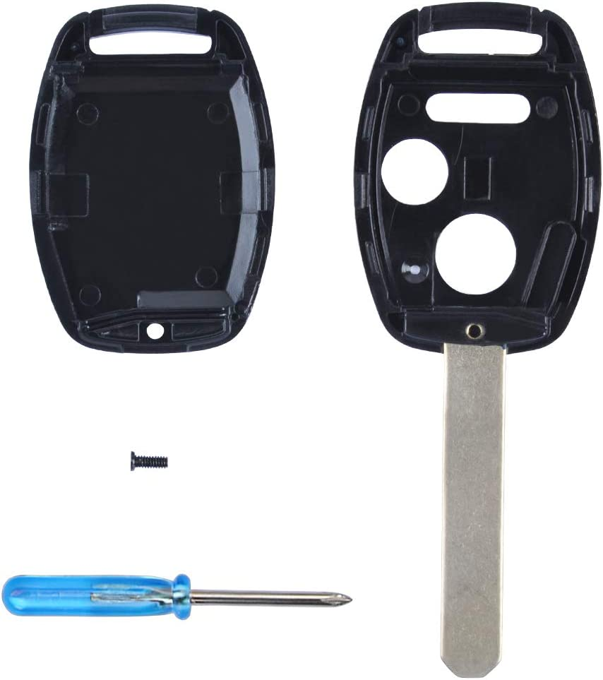 Key Shell Replacement for Honda CR-V Odyssey Accord Crosstour Civic CR-Z Fit Mikkuppa Key Fob Cover with Screwdriver /& Uncut Blade