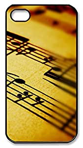 iPhone 4 4s Cases & Covers - Music Notation Custom PC Soft Case Cover Protector for iPhone 4 4s - Black