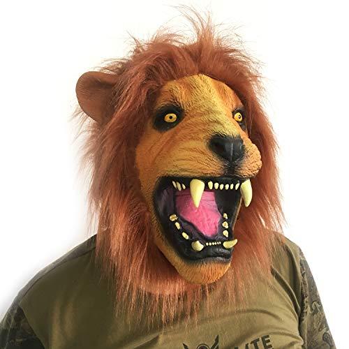SUNKY Lion Adult Latex Head Mask Creepy Animal