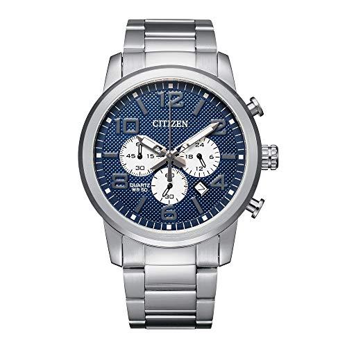 Citizen Men's Quartz Stainless Steel Strap, Silver, 22 Casual Watch (Model: AN8050-51M)