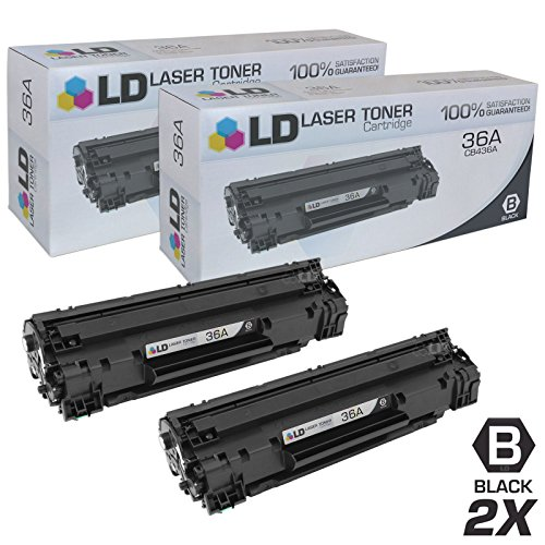 LD Compatible Replacement for HP 36A CB436A Pack of 2 Black Toner Cartridges for LaserJet M1522n MFP, M1522nf MFP, P1505, P1505n by LD Products