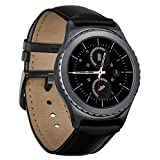 Samsung Gear S2 Classic Smartwatch with Heart Rate Monitor (Wi-Fi, Bluetooth) - Black