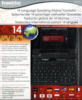 Speaking 14-Language Global Translator with Visual Dictionary: EST-7014