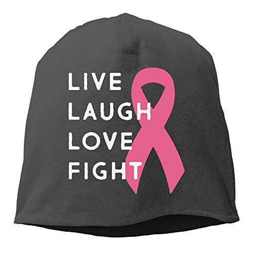 Rrteyr6y Live Laugh Love Figh Winter Fall Funny Printed Unisex Knit Caps Skull (Live Free Peace Sign)