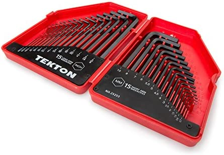 Details about  /TEKTON Hex Key Wrench Set Inch//Metric,30-Piece25253 with hinged storage case