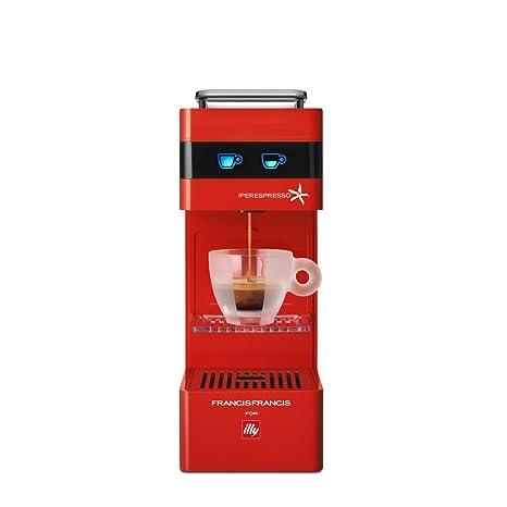 Illy 949835 Máquina de café en cápsulas 1000 W, 1 Liter, Rojo