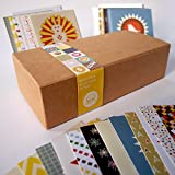 Bright Stem 48 Small Thank You Cards/Notecards Mixed Pack