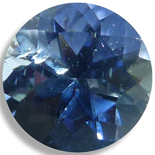 Natural Iolite Blue Round Brilliant Loose Unset Gem (5mm) Brilliant Yellow Sapphire Gem