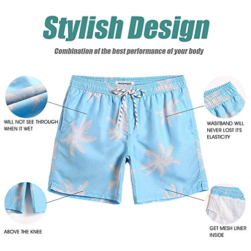 bf234a41caa MaaMgic Mens Palm Tree Swim Trunks Bathing Suits Board Shorts Swimming  Shorts