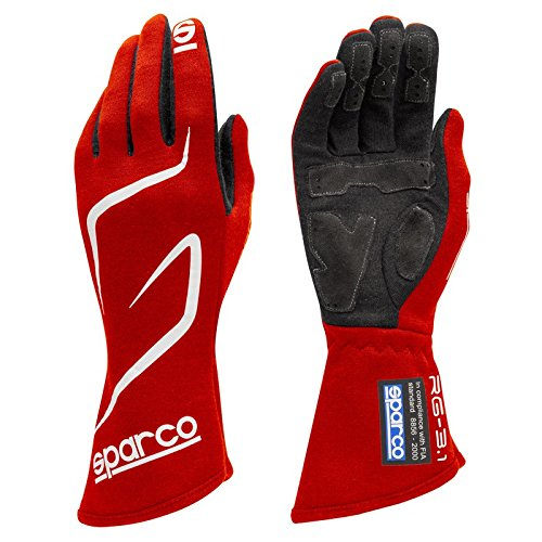 Sparco Land RG-3.1 Racing Gloves 01308 (Size 12, Red) by Sparco