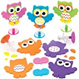 Owl Jump-up Kits For Kids Perfect For Children's Arts, Crafts And Decorating For Boys And Girls (Pack of 6)