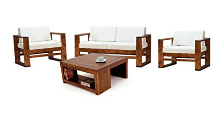 Superb Lifeestyle 2 1 1 Sheesham Wood Sofa Set With Centre Table Brown Home Interior And Landscaping Oversignezvosmurscom