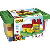 Unico 250 pcs Building bricks DUPLO compatible In a Bucket and HUGE building plate