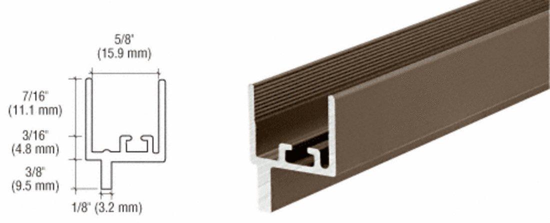 CRL Bronze Anodized Aluminum 5/8; Window Adapter Channel WA100BRZ