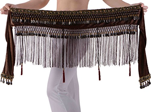 Black Box Wine Halloween Costume (Brown Belly Dance Skirt XS S M L XL)