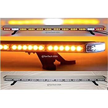 Amazon yantech usa 60 amber clear super bright led light bar yantech usa 60 amber clear super bright led light bar 102 leds flashing warning tow aloadofball Images