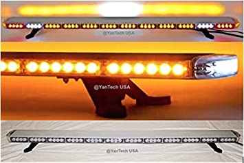 Amazon 60 amber clear super bright led light bar 102 leds 60quot amber clear super bright led light bar 102 leds flashing warning tow truck wrecker mozeypictures Choice Image