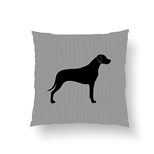 Zippered Pillow Covers Pillowcases 16x16 Inch Rhodesian Ridgeback Silhouette Pillow Cases Cushion Cover for Home Sofa Bedding