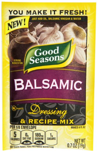 Good Seasons Balsamic Vinaigrette Dressing & Recipe Mix (0.7 oz Packets, Pack of 24) (Best Balsamic Dressing Recipe)