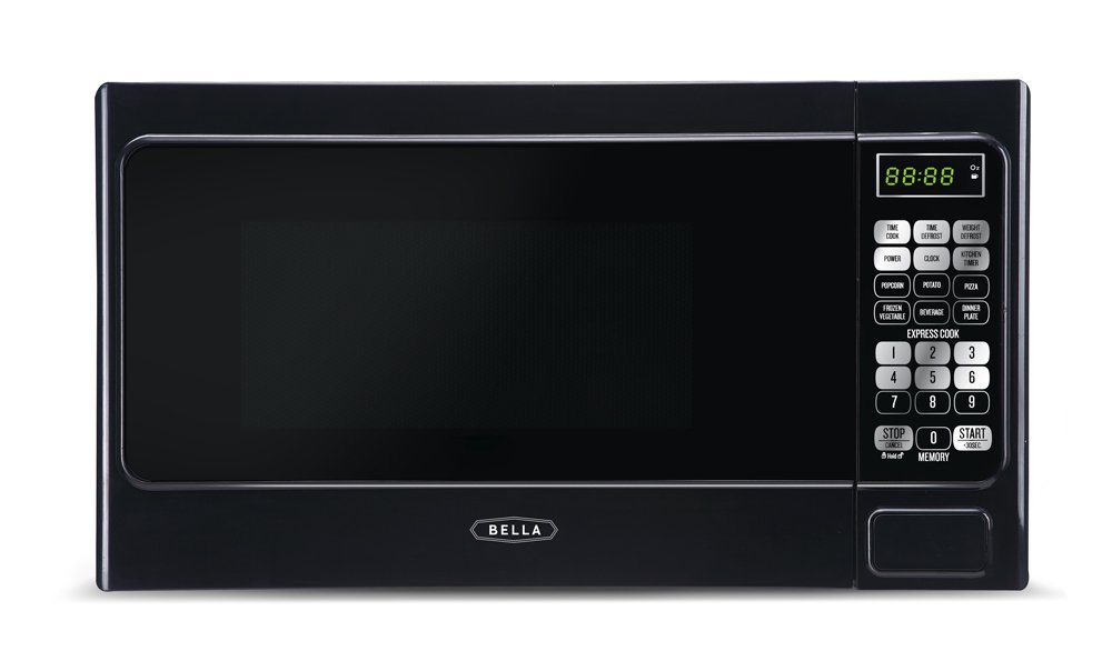 Bella BMO07ABTBKB 700-Watt Compact Digital Microwave Oven 0.7 cu. ft. Black
