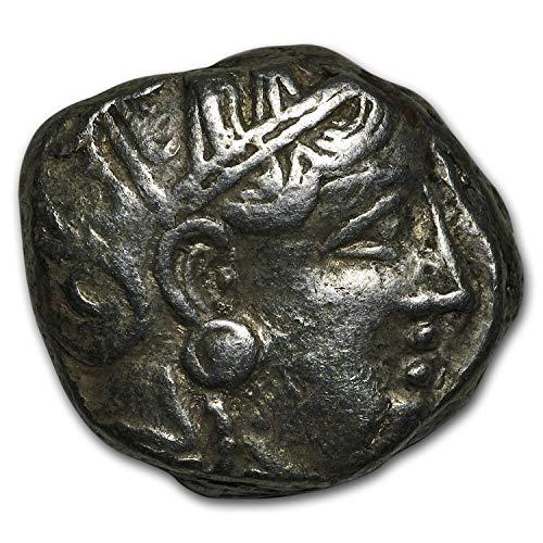 393 GR Attica Athens Silver Tetradrachm Owl (393-294 BC) VF (1/4) Very Fine
